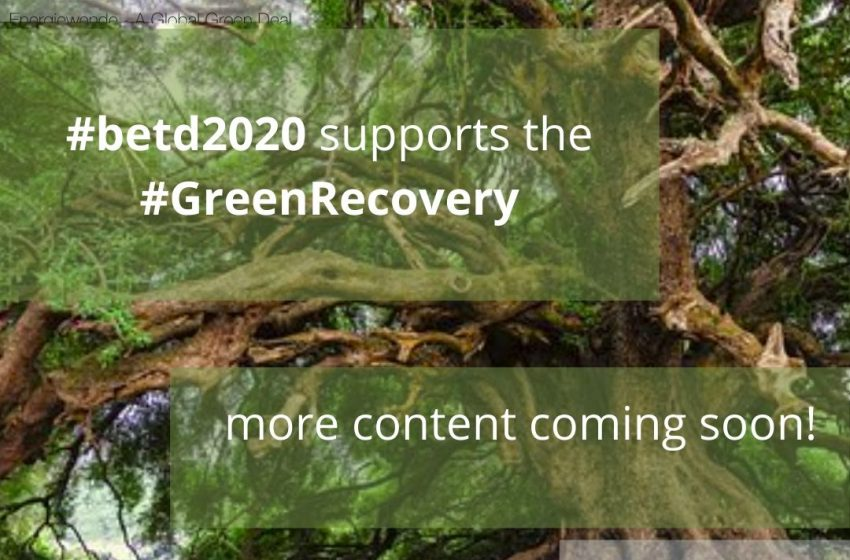 😍 👏 💚 The #betd2020 goes virtual! In the following months, numerous interesting formats will be published here, all working towards one goal: the #GreenRecovery and #GreenDeal! #renewables Coming soon, so stay tuned!   @dena_news @eclareon_Berlin @BSWSolareV @bEEmerkenswert https://t.co/vZfqVCf62b