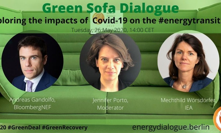 😍 💬 💚 How does #COVID-19  influence the #energytransition?  On Tue, 26 May 14:00 CET, we will find out in the #betd2020 Green Sofa Dialogue with A.Gandolfo (BloombergNEF) @MWorsdorfer (IEA) and @jxporto.  👉Tune in on BETD youtube channel or https://t.co/n95KiPQdUV! #GreenDeal https://t.co/fUZU7Vqc1J