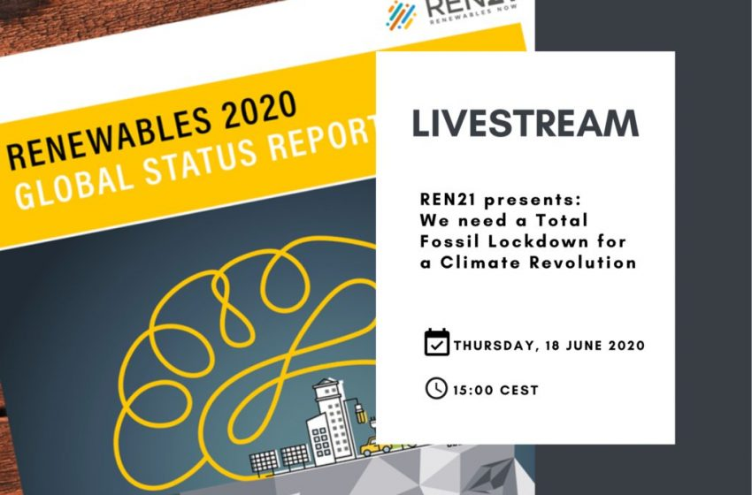 RT @REN21: We need a Total Fossil Lockdown for a #ClimateRevolution 🚫 #GSR2020  We're going LIVE with @RanaAdibX tomorrow 18 June, 15:00 (CEST). Message us your questions, or join the #live Q&A. Catch it on YouTube 👉 https://t.co/V0ghvYDaZ2 or Facebook 👉 https://t.co/bf7KjaV2fK https://t.co/lW47XzYPso