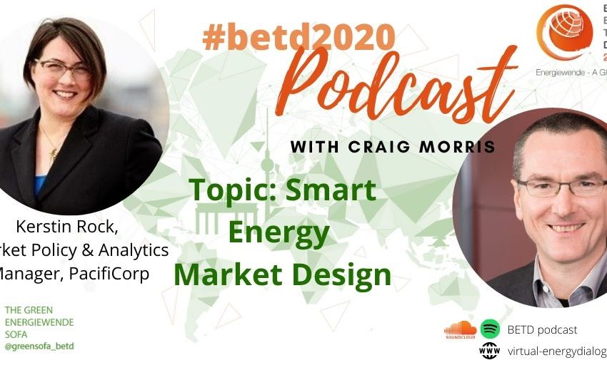 Tonight at 8pm CEST the new edition of the #betd2020 podcast will be published! @PPchef is sitting down with @Kerstin_Rock of @PacifiCorp to talk about #Smart #Energy Market Design! Tune in on our website, Spotify or soundcloud and enjoy! https://t.co/TEMLtQIAi8#digitalization https://t.co/vlVprMZUdo