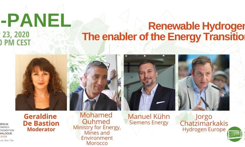 An exciting panel debate coming up this Thursday: is #renewable #hydrogen the enabler of the #energytransition? with @geralbine, @ManuelKuehn3, @Chatzimarkakis & Mohamed Ouhmed, Ministry for Energy, Mines and Environment #Morocco. Tune in! #betd2020 #GreenDeal #greenhydrogen https://t.co/jxu9rilLnT