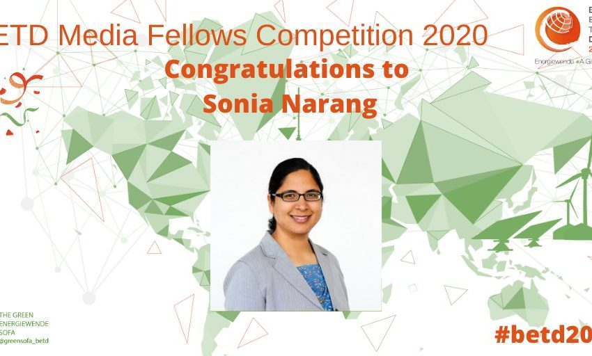 🎉 Congratulations to the winners of our #betdfellow #competition:👉 Sonia Narang @sonianarang will explore fascinating, creative #renewable #energy solutions #worldwide.For more information and details, stay tuned!#betd2020 #GreenRecovery #USA https://t.co/8nogWpaKRf