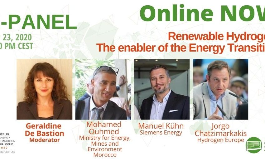 Our 1st #betd2020 E-Panel is online: is #renewable #hydrogen the enabler of the #energytransition? with @geralbine, @ManuelKuehn3, @Chatzimarkakis & Mohamed Ouhmed, Ministry for Energy, Mines and Environment #Morocco. Tune in! #betd2020 #GreenDeal https://t.co/zEplFH3wEk https://t.co/eGaKLyX00x