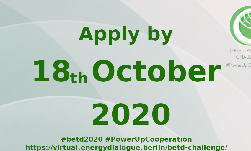 Global Crisis to #GlobalGreenRecovery. Do you work in the energy industry? Do you want to? How can international cooperation contribute to the future Green Recovery? Join the #GreenRecoveryChallenge. @greensofa Apply here: https://t.co/9RXMiNRuV8 https://t.co/4by8qKug2j