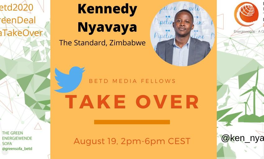On August 19, 2pm-6pm CEST, our 3rd #SofaTakeOver takes place! @ken_nyavaya will give an overview on the #energy situation in #Zimbabwe and on the #potential of #renewableenergy.  Follow his reporting on our Twitter Account @greensofa_betd! #betd2020 #betdfellows #Energiewende https://t.co/n9nrkC3r1x