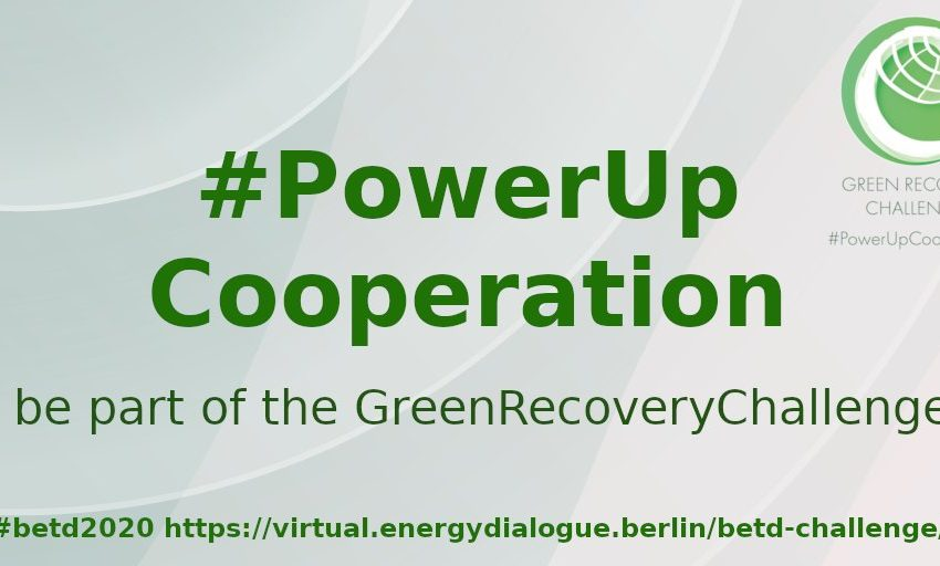 Do you have an innovative idea to help #PowerUpCooperation in the energy sector? Join the #GreenRecoveryChallenge, have your idea verified by experts and share your ideas in person at the next #betd2020 in #Berlin. Applications close 18.10.2020.  https://t.co/y2oyLGZ2Xr https://t.co/BYtuqjtj7v