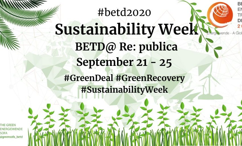 Next week will be #SustainabilityWeek on all #betd2020 & @greensofa_betd accounts from September 21 – 25!  Stay tuned for in…