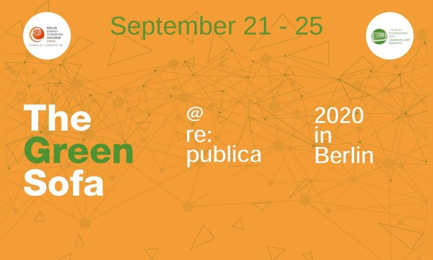 Reminder: the #Green Sofa goes @republica! From September 21 – 25 you will find us on #rpCampus! #betd2020 #GreenDeal #GreenRec…