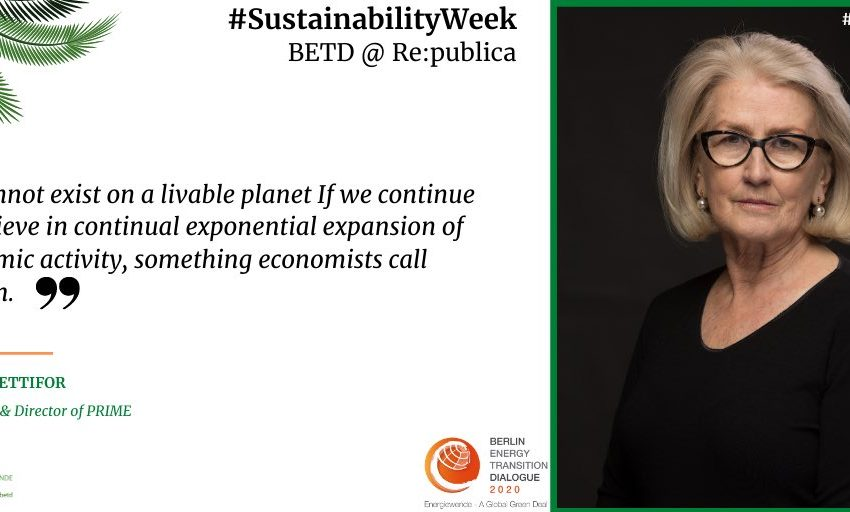 .@AnnPettifor, Author & Director of PRIME, supports the #SustainabilityWeek! Together for the global  #Energiewende, a #Gree…
