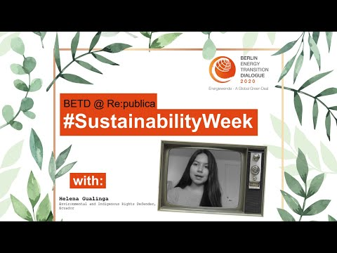 #SustainabilityWeek Video Statement: Helena Gualinga
