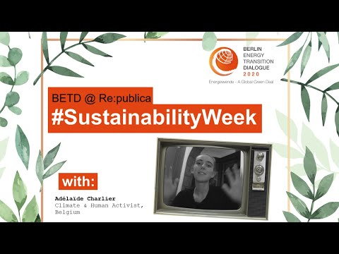 #SustainabilityWeek #VideoStatement: Adélaïde Charlier