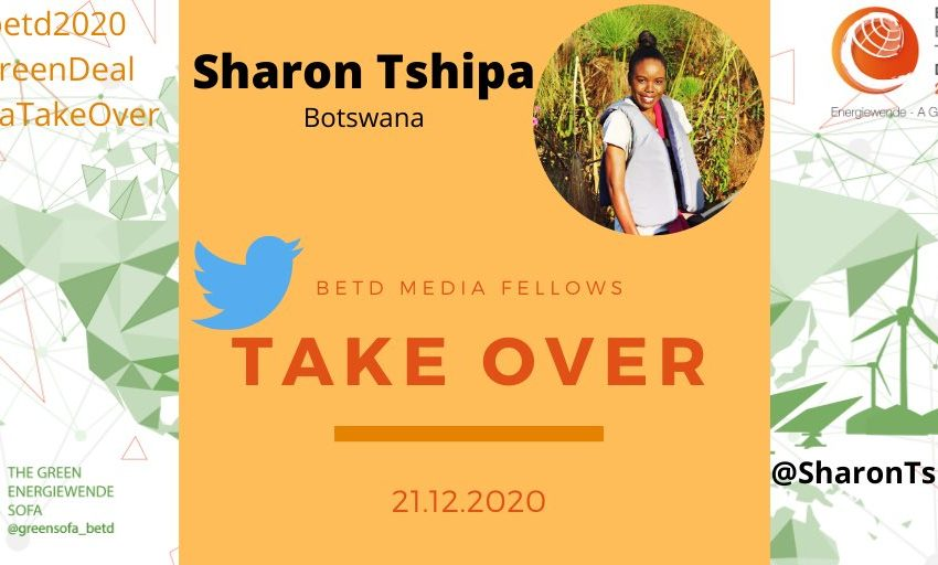 Quick Reminder ❗️Today @SharonTshipa, #betdfellow, will take over the Green Sofa Twitter Account from 1pm – 5pm CET . She will g…