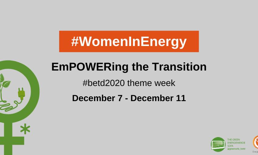 Coming up next week: #WomeninEnergy (theme week)