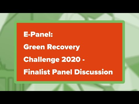 #betd2020 E-Panel: Finalist – Green Recovery Challenge