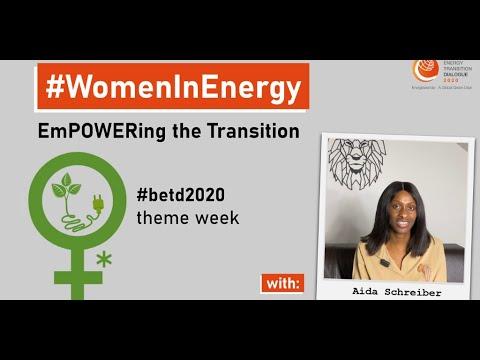 #WomenInEnergy – #empowering the #transition – #videostatement: Aida Schreiber