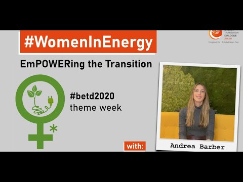 #WomenInEnergy – #empowering the #transition: Andrea Barber