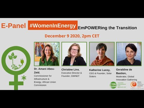 #WomenInEnergy – #empowering the #transition:  E Panel