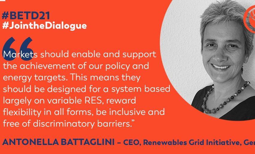 @greensofa_betd: Antonella Battaglini, CEO, @RenewablesGrid, confirmed to speak virtually at the 7th Berlin Energy Transition Dialogue about #SmartMarketDesigns for the #global #energytransition. #betd21 @BMWi_Bund @bEEmerkenswert @eclareon_Berlin @dena_news @BSWSolareV @GermanyDiplo