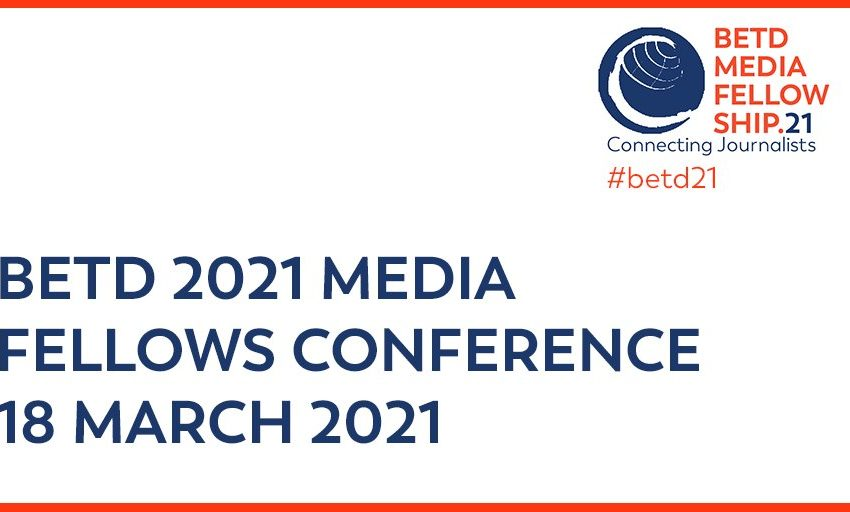 @greensofa_betd: 📆 Save the Date: The BETD Media Fellows – Connecting Journalists conference takes place on March 18th virtually as a sideevent of the #betd21. ➡️Register here:  @giz_gmbh @bEEmerkenswert#MediaFellows #Energiewende #JointheDialogue