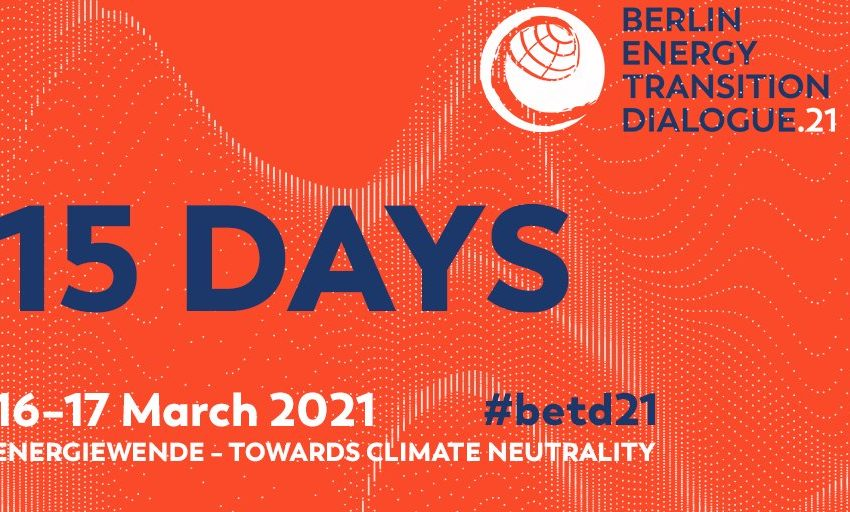 greensofa_betd: 🔔📢⌛15 days from now we are starting the 7th Berlin Energy Transition virtually at the Federal Foreign Office in #Berlin, #Germany! #betd21 #JointheDialogue ➡️  @BMWi_Bund @bEEmerkenswert @eclareon_Berlin @dena_news @BSWSolareV