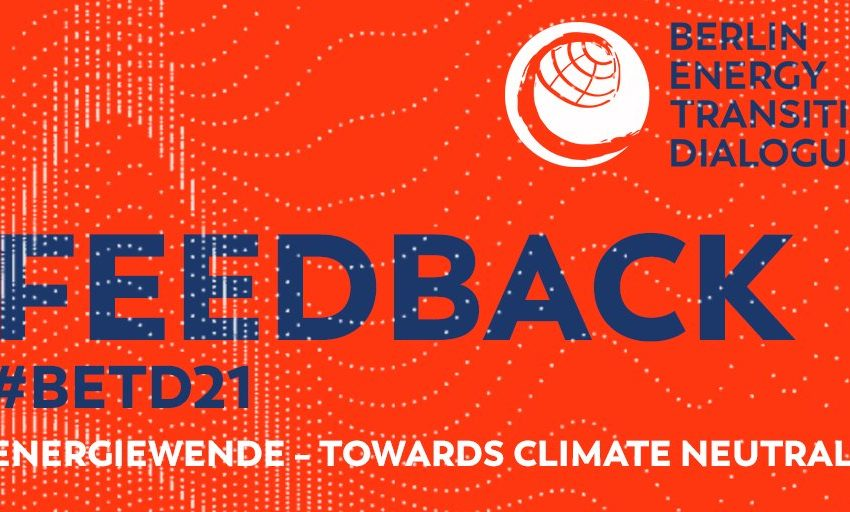 greensofa_betd: We are looking foward to your feedback of the #betd21! Please help us to further improve your conference with your oppinion as well as suggestions for next year. ➡️  @BMWi_Bund @bEEmerkenswert @eclareon_Berlin @dena_news @BSWSolareV