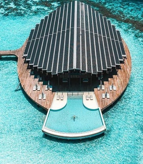 Have a swim to cool down in these hot temperatures! This picture was taken in the Maldives on the private island resort,…