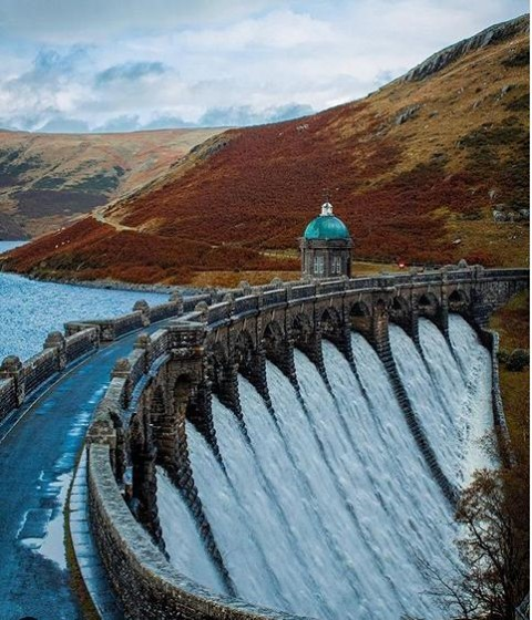 Look at this impressive #hydro #dam! The Graig Goch Dam in central Wales was built in the 19th century and was then conv…